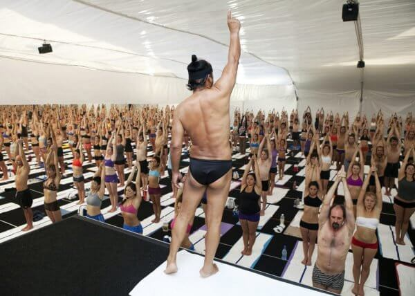 Bikram Choudhury leading yoga teacher training
