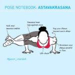 Yoga Pose Notebook: Astavakrasana