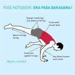Yoga Pose Notebook: Eka Pada Bakasana I