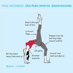 Yoga Pose Notebook: Eka Pada Urdhva Dhanurasana