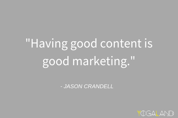online marketing tips for yoga teachers - Jason Crandell quote