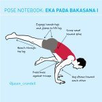 Yoga Pose Notebook: Eka Pada Bakasana I