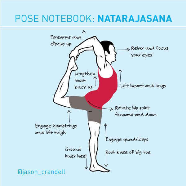 Yoga Pose Notebook: Natarajasana (King Dancer Pose)