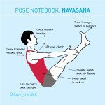 Yoga Pose Notebook: Boat Pose (Paripurna Navasana)